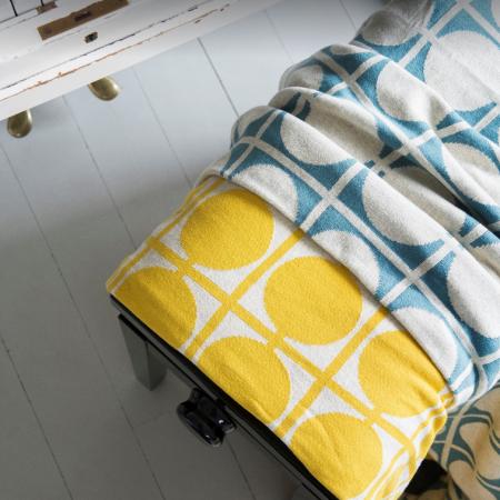 Muster Don in Gelb und Blau mit positiv-negativ Effekt.