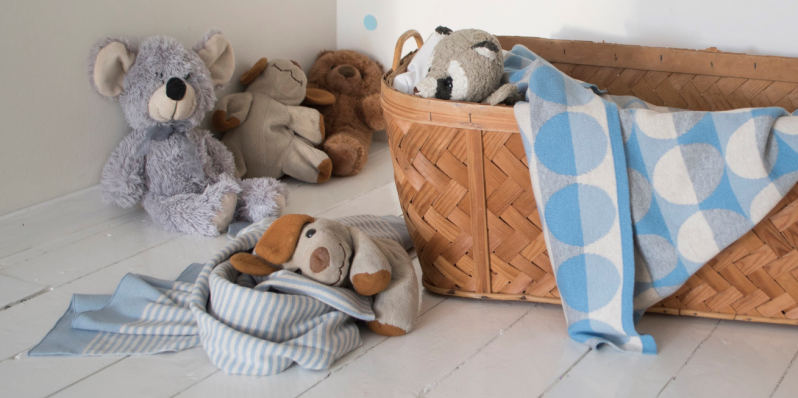 Deckchen Minni und Max in Blautönen von Funky Doris