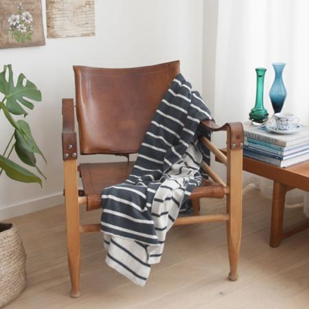 Die Decke aus Baumwolle im Geometrie Look