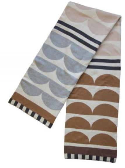 Beliebte Decke Kamelia in Braun und Rosa