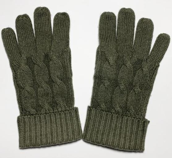 Handschuhe mit zeitlosem Zopfmuster