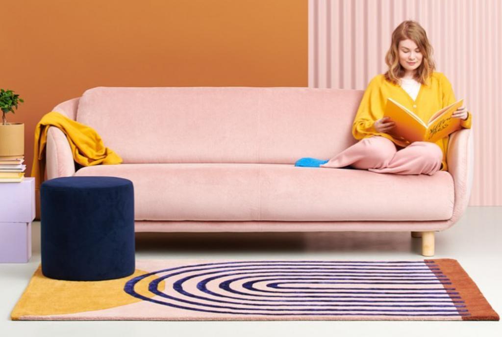 Moderner grafischer Teppich