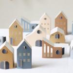 Bastelset von 12 Häusern aus Papier