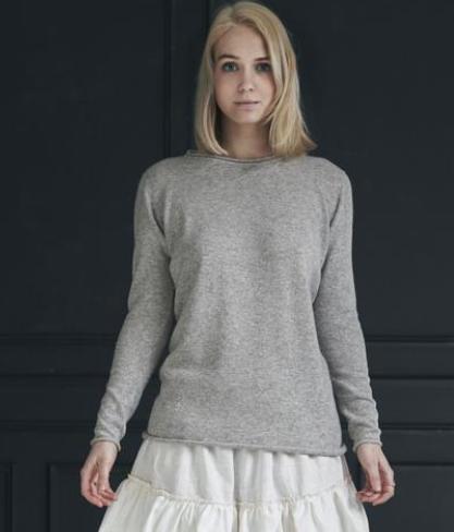Längerer Pullover aus Kaschmir