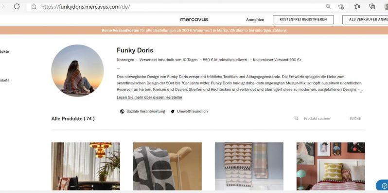 B2B Online Shop Funky Doris