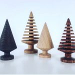 Tannenbäumchen aus Eichenholz